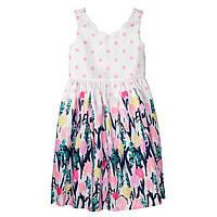 Детское летнее платье с цветочным принтом Gymboree для девочки