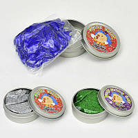 Жвачка для рук С 23183 /ЦЕНА ЗА 1 ШТУКУ/ (480) 3 цвета, С БЛЁСТКАМИ, 35 грамм, 12шт в упаковке