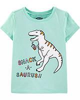 Красивая летняя футболка Динозаврик ОшКош для девочки