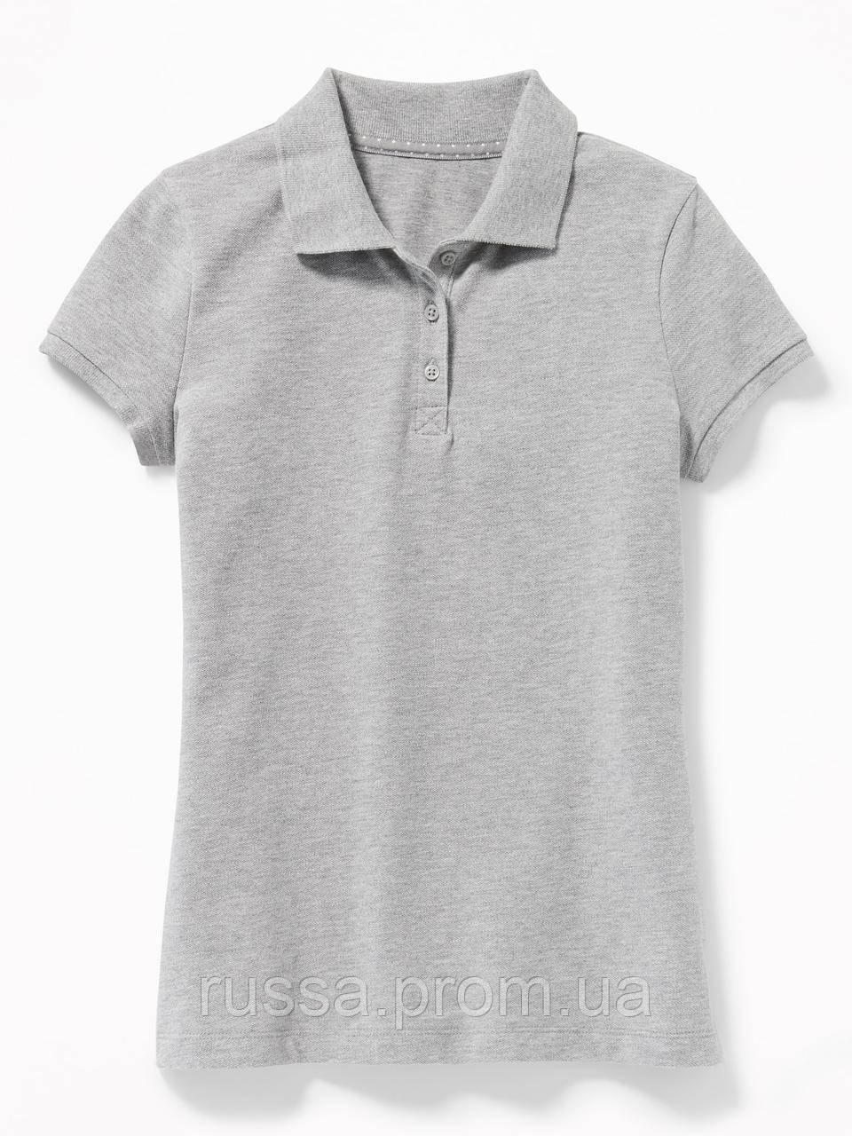 Детская серая футболка поло для девочки Old Navy Олд Неви