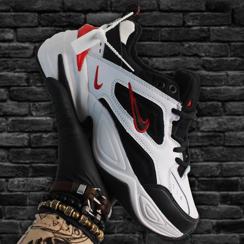 Кроссовки мужские Nike M2K Tekno черные-белые (Top replic)