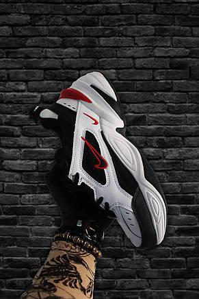 Кроссовки мужские Nike M2K Tekno черные-белые (Top replic), фото 3
