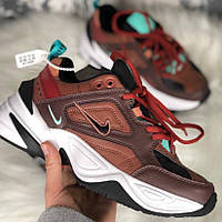 Кроссовки мужские Nike M2K Tekno темно-коричневые (Top replic)