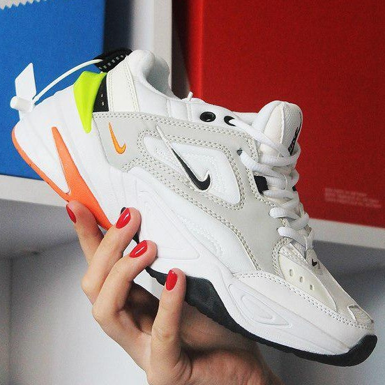 Кроссовки мужские Nike M2K Tekno белые (Top replic)