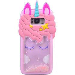 Чехол для Samsung G955 Galaxy S8 Plus, Unicorn 3D, силиконовый