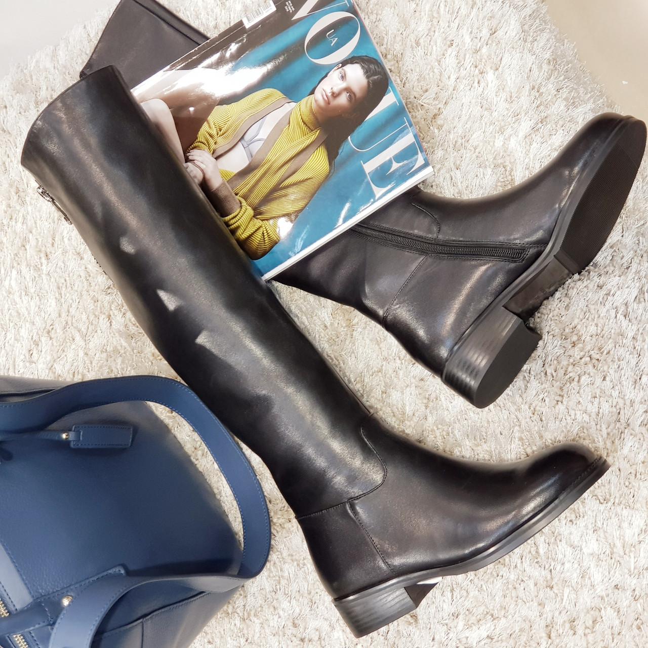Сапоги женские зимние ,ботфорты кожаные на каблуке
