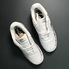 Кроссовки мужские Nike Air Force Low Bone белые (Кость стопы) (Top replic), фото 2