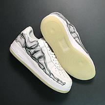Кроссовки мужские Nike Air Force Low Bone белые (Кость стопы) (Top replic), фото 3