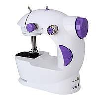 Швейная машинка портативная Mini Sewing Machine FHSM 201 с адаптером фиолетовая