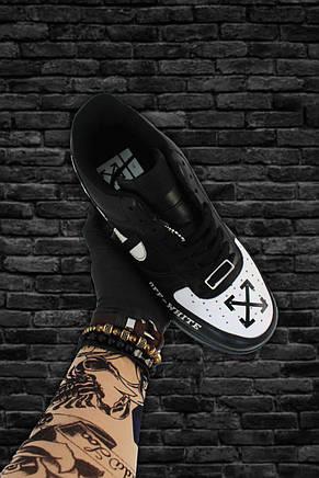 Кроссовки мужские Nike Air Force 1 Low OFF-White черные (Top replic), фото 3