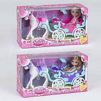 Карета 57050 (36/3) 2 вида, с куклой, в коробке