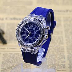 """Женские наручные часы """"Geneva"""" с подсветкой (синий)"""