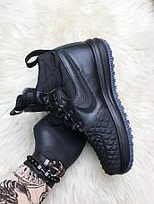Кроссовки мужские Nike Lunar Force 1 Duckboot '17 черные (Top replic), фото 3