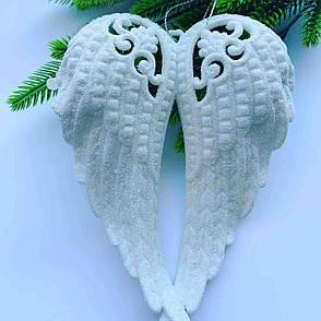 Новогоднее украшение.Елочное украшение-крылья ангела(белые)., фото 2