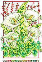 Схемы для вышивки крестом на канве А4-14-004 Букет белых цветов