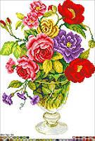 Схемы для вышивки крестом на канве А4-16-014 Весенний букет