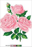 Схемы для вышивки крестом на канве А4-16-057 Букет чайных роз