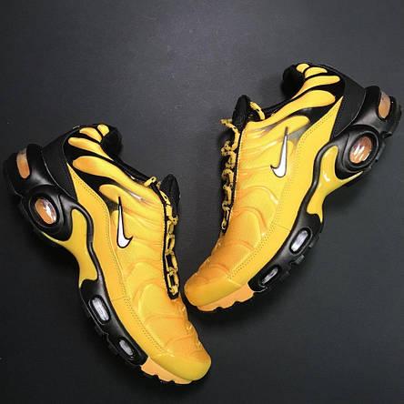 Кроссовки мужские Nike Air Max TN желтые-черные (Top replic), фото 2