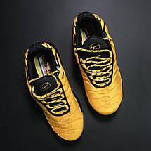 Кроссовки мужские Nike Air Max TN желтые-черные (Top replic), фото 3