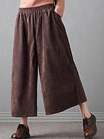 Широкі жіночі спідниця - штани кюлоти вельвет. Колір і розмір на вибір, фото 1