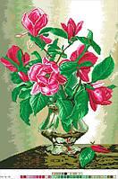 Схемы для вышивки крестом на канве А3-16-15 Цветы в вазе