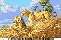 Схемы для вышивки крестом на канве А3-16-63 Львы