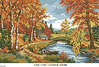 Схемы для вышивки крестом на канве А3-16-81 Осенний пейзаж