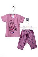 Пижама для ребёнка/девочка 100% хлопок Розовый Vitmo все размеры  1 год (80 см)