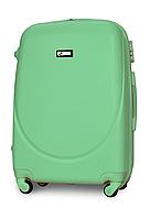 Чемодан Fly К310 большой 75х47х29 см 90л пластиковый на 4 колесах Мятный, фото 1