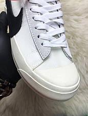 Кроссовки мужские Nike Blazer Mid белые (Top replic), фото 3