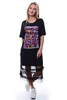 Платье  100% вискоза чёрный ADYES все размеры  L-XL