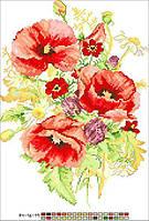 Схемы для вышивки крестом на канве А4-16-19 Цветы