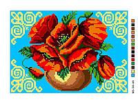 Схемы для вышивки крестом на канве Б5-16-45 Цветы в вазе