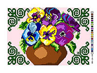 Схемы для вышивки крестом на канве Б5-16-39 Цветы в вазе
