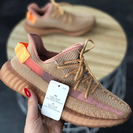 Кроссовки мужские Adidas Yeezy Boost 350 V2 Clay бежевые (Top replic), фото 2