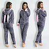 Пижама женская с ушками махровая