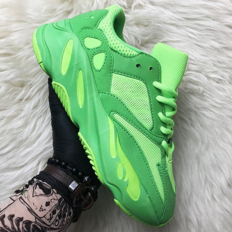 Кроссовки мужские Adidas Yeezy Boost 700 зеленые (Top replic)