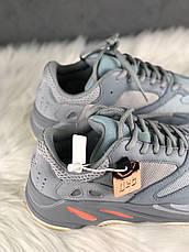 Кроссовки мужские Adidas Yeezy 700 серые-синие (Top replic), фото 2