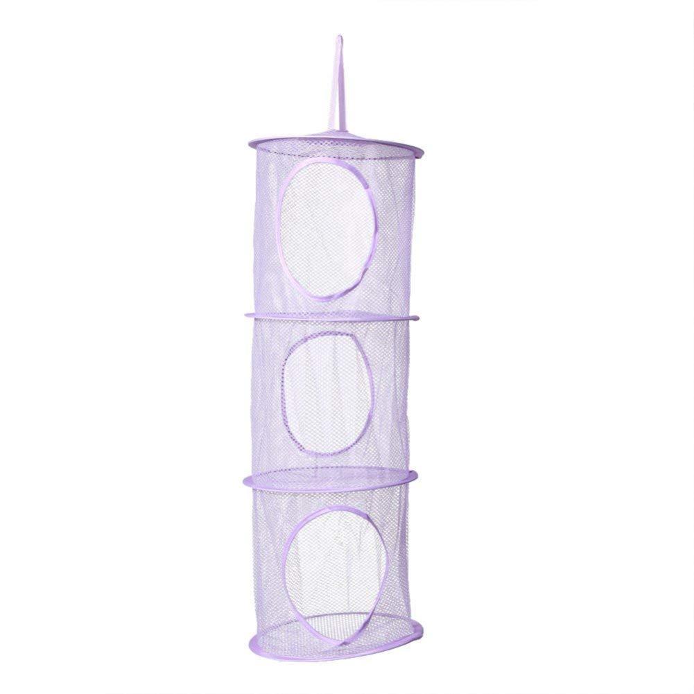 Подвесная корзина для игрушек на три уровня - фиолетовый