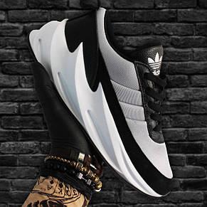 Кроссовки мужские Adidas Sharks черные-серые (Top replic), фото 2
