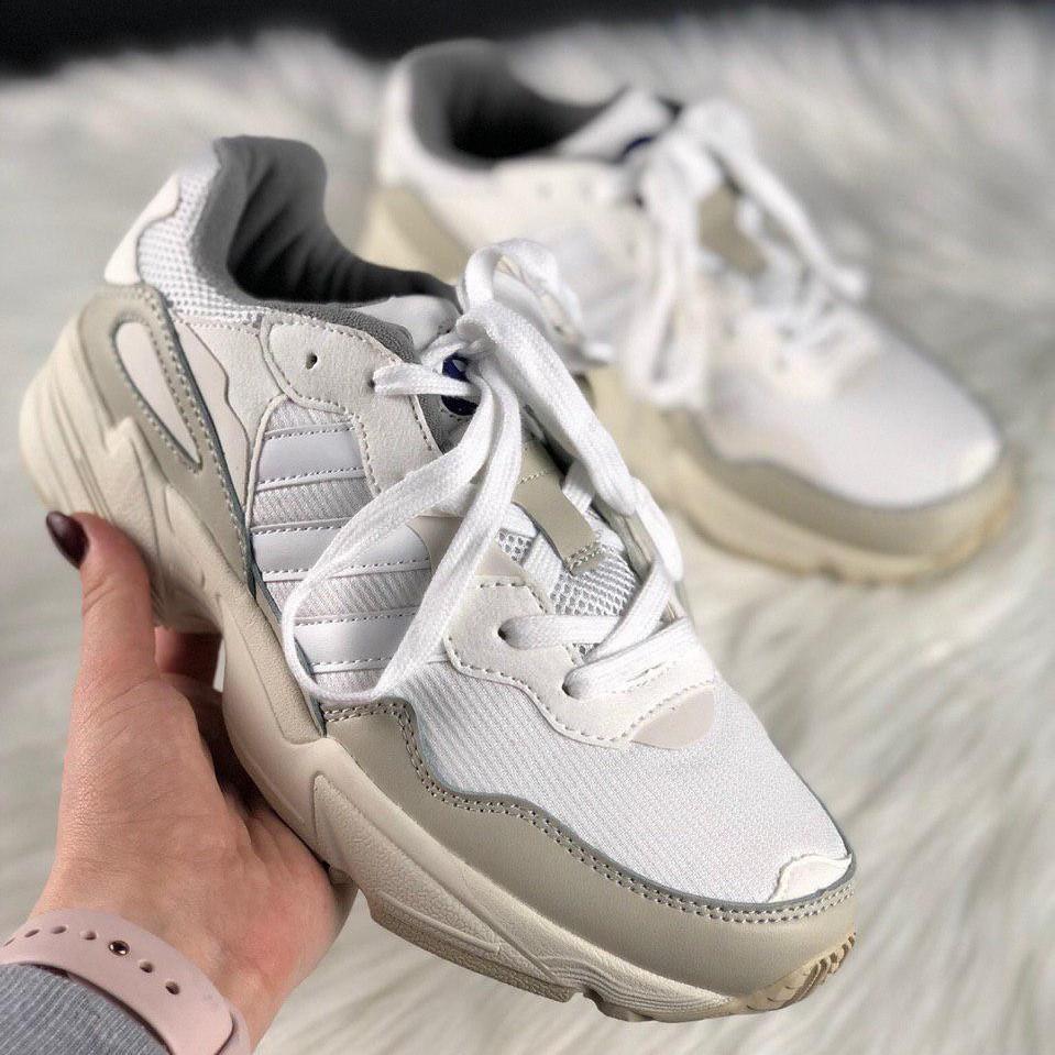 Кроссовки мужские Adidas Yung 96 белые-серые (Top replic)