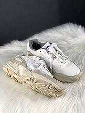 Кроссовки мужские Adidas Yung 96 белые-серые (Top replic), фото 2