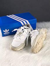 Кроссовки мужские Adidas Yung 96 белые-серые (Top replic), фото 3