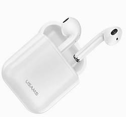Наушники Bluetooth беспроводные USAMS US-LU001, с микрофоном
