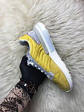 Кроссовки мужские Adidas ZX 500 Bold желтые-белые (Top replic), фото 2