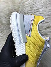 Кроссовки мужские Adidas ZX 500 Bold желтые-белые (Top replic), фото 3