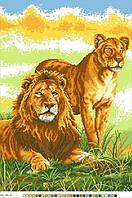 Схемы для вышивки крестом на канве А3-14-004 Львы