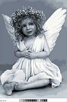 Схемы для вышивки крестом на канве А3-16-074 Девочка ангел