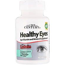 "Комплекс для здоровья глаз, 21st Century ""Healthy Eyes with Lutein"" с лютеином (60 таблеток)"