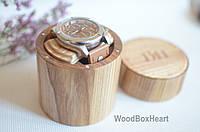 Деревянная шкатулка футляр для наручных часов цилиндр